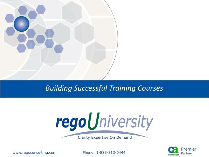 Building Successful Training Courses