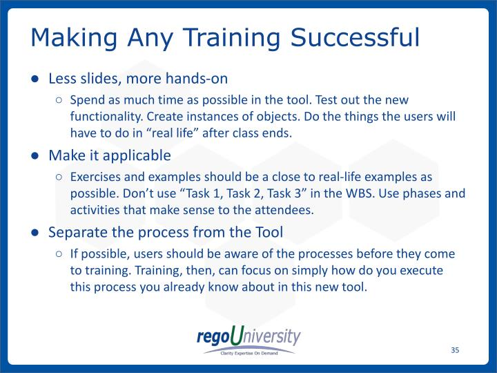 Making Any Training Successful