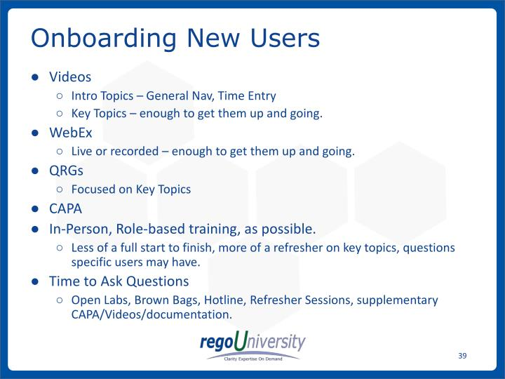Onboarding New Users