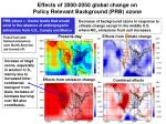 effects of 2000 2050 global change on policy relevant background prb ozone