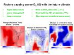 factors causing worse o 3 aq with the future climate