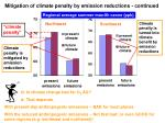 mitigation of climate penalty by emission reductions continued