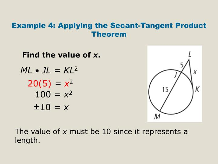 Example 4: Applying the Secant-Tangent Product Theorem