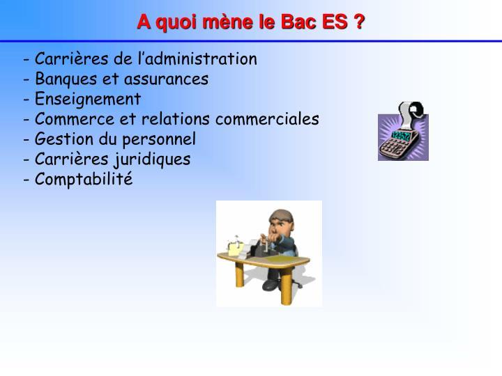 A quoi mène le Bac ES ?