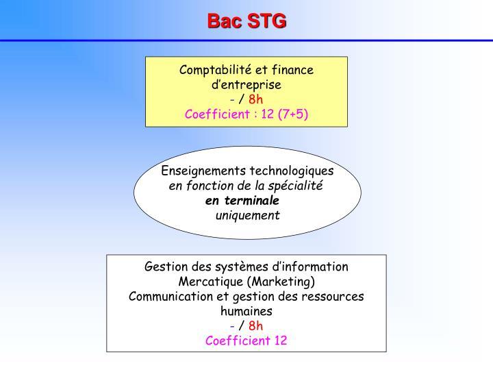 Bac STG
