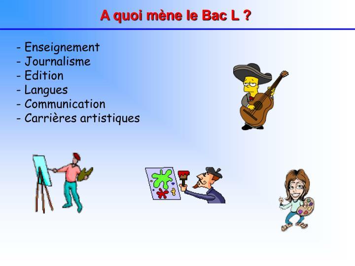 A quoi mène le Bac L ?