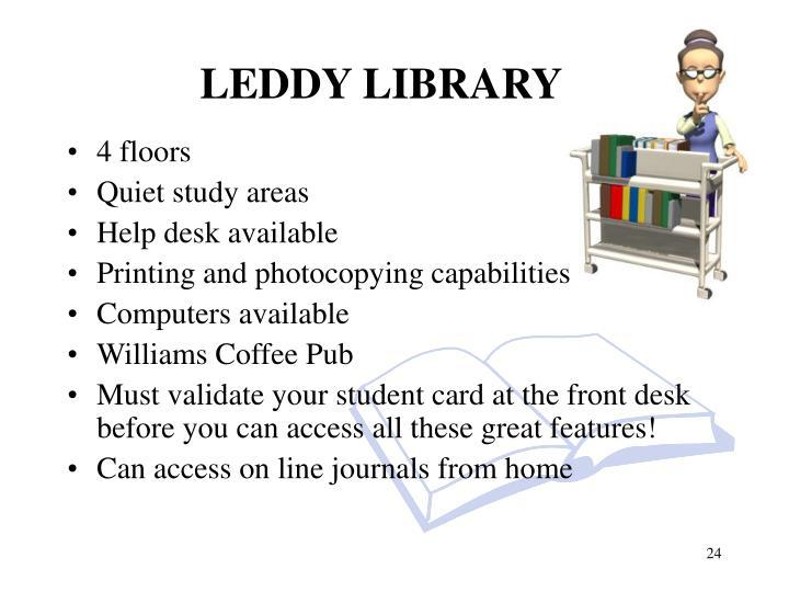 LEDDY LIBRARY