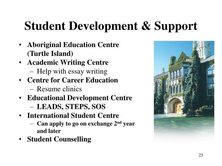 Student Development & Support