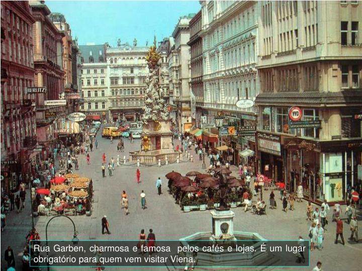 Rua Garben, charmosa e famosa  pelos cafés e lojas. É um lugar obrigatório para quem vem visitar Viena.
