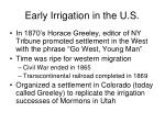early irrigation in the u s4