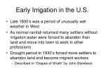 early irrigation in the u s5