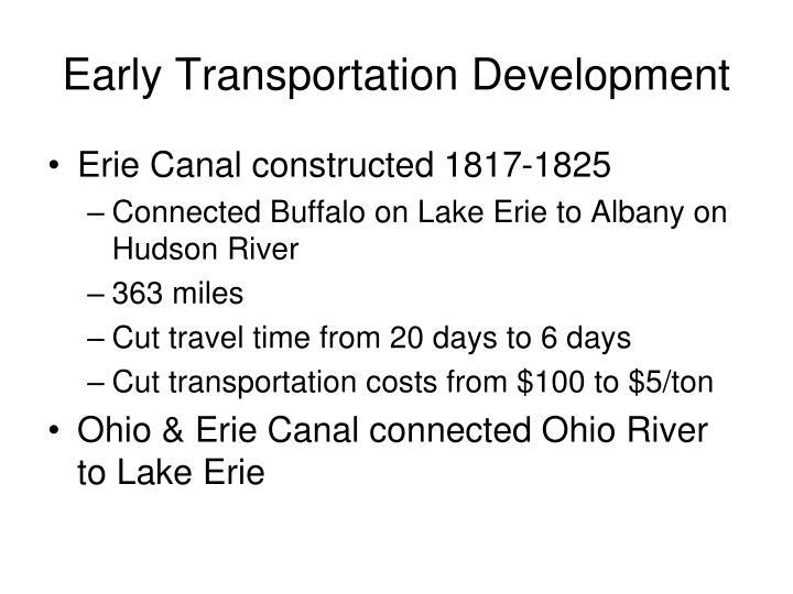 Early Transportation Development