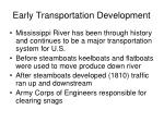 early transportation development2