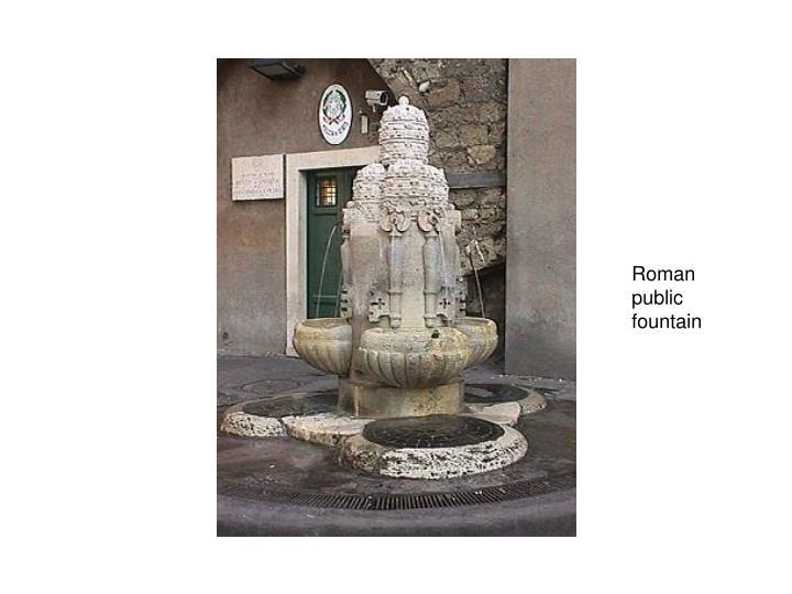 Roman public fountain