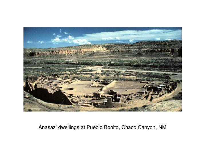 Anasazi dwellings at Pueblo Bonito, Chaco Canyon, NM