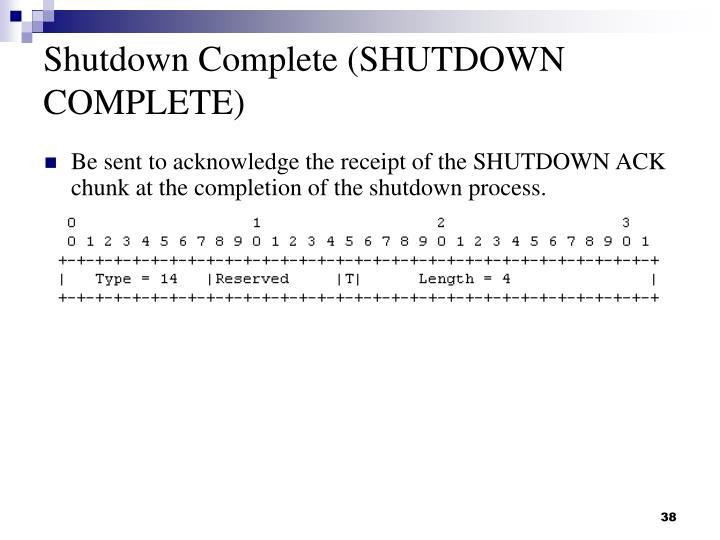 Shutdown Complete (SHUTDOWN COMPLETE)
