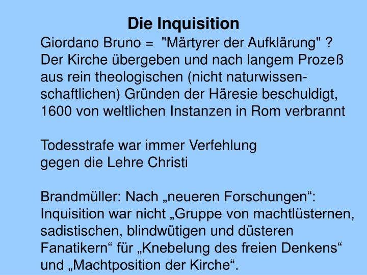 Die Inquisition