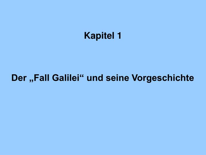 Kapitel 1