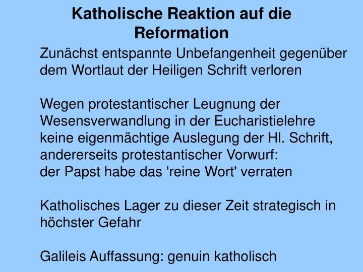 Katholische Reaktion auf die Reformation