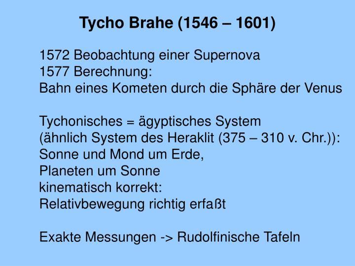 Tycho Brahe (1546 – 1601)