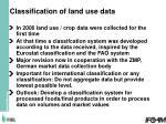 classification of land use data