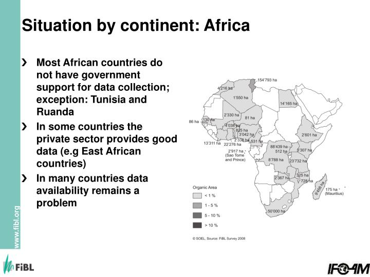 Situation by continent: Africa