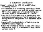 3 stages of production