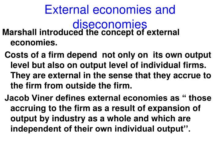 External economies and diseconomies