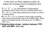 in the short run plant capacity is given so output can increase only by employing more labor
