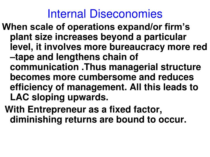 Internal Diseconomies