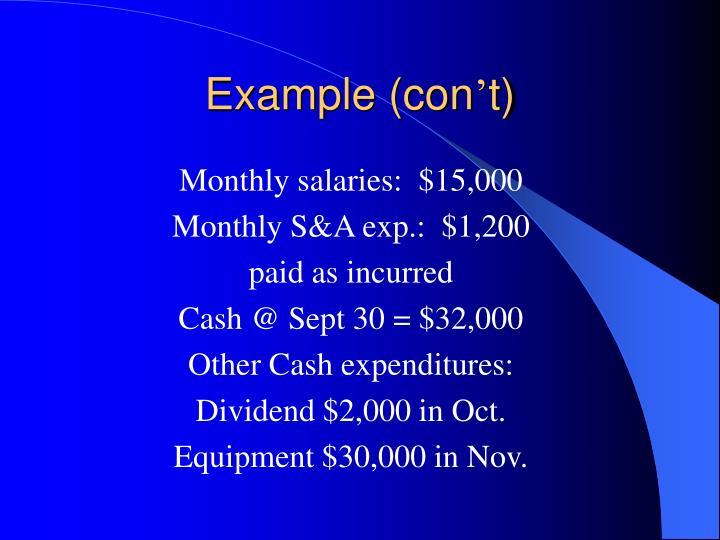 Example (con