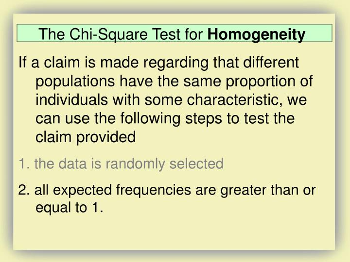 The Chi-Square Test for