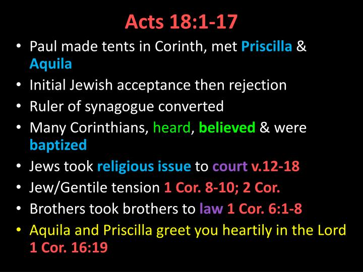 Acts 18 1 17
