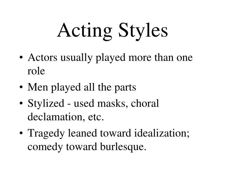 Acting Styles