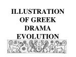 illustration of greek drama evolution