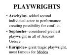 playwrights