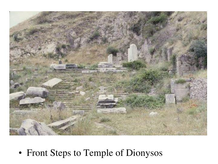 Front Steps to Temple of Dionysos