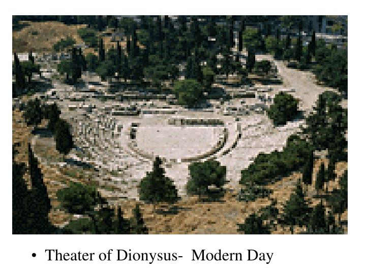 Theater of Dionysus-  Modern Day