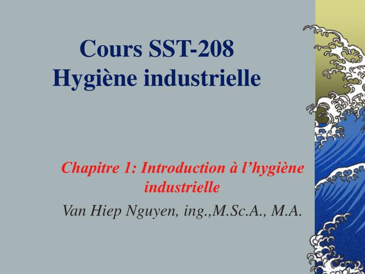 Cours SST-208