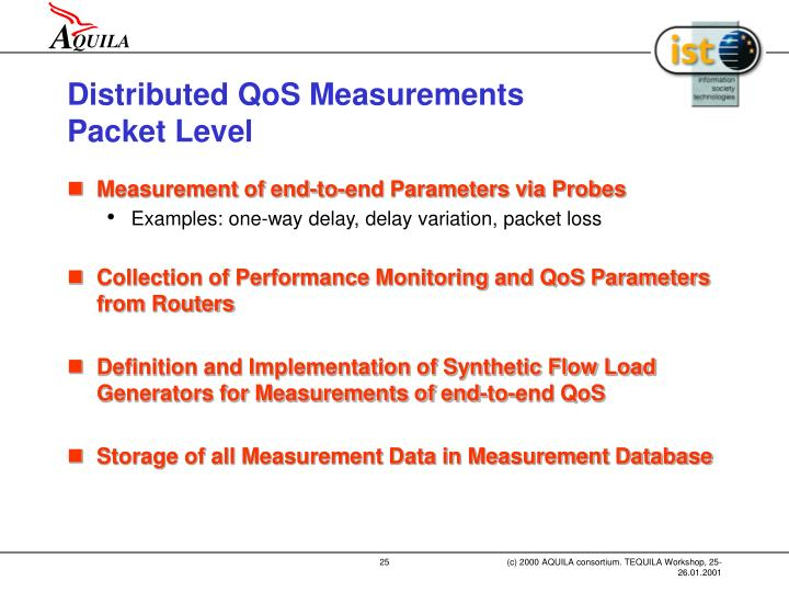 Distributed QoS Measurements