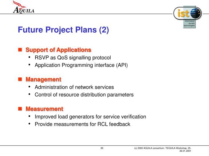 Future Project Plans (2)