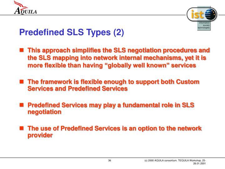 Predefined SLS Types (2)