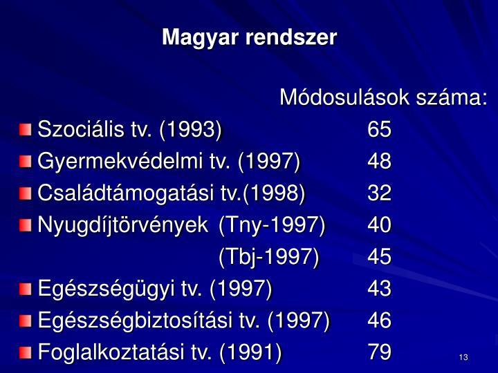 Magyar rendszer