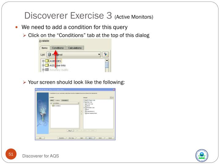 Discoverer Exercise 3