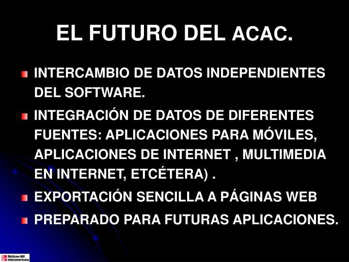 EL FUTURO DEL
