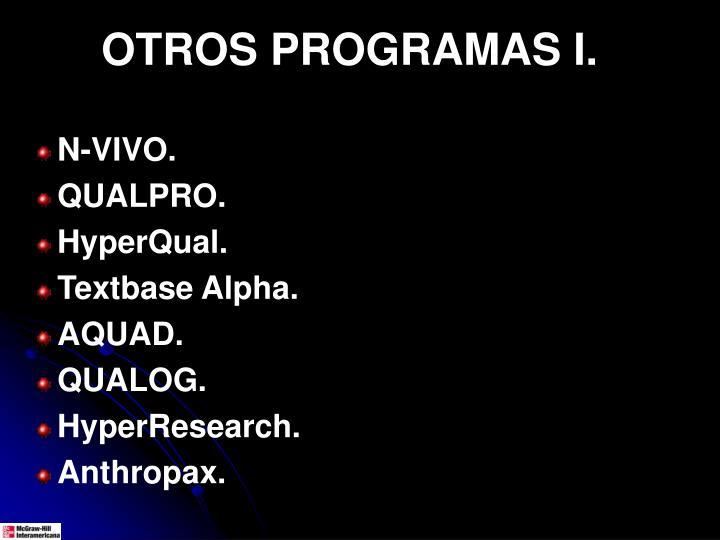 OTROS PROGRAMAS I.