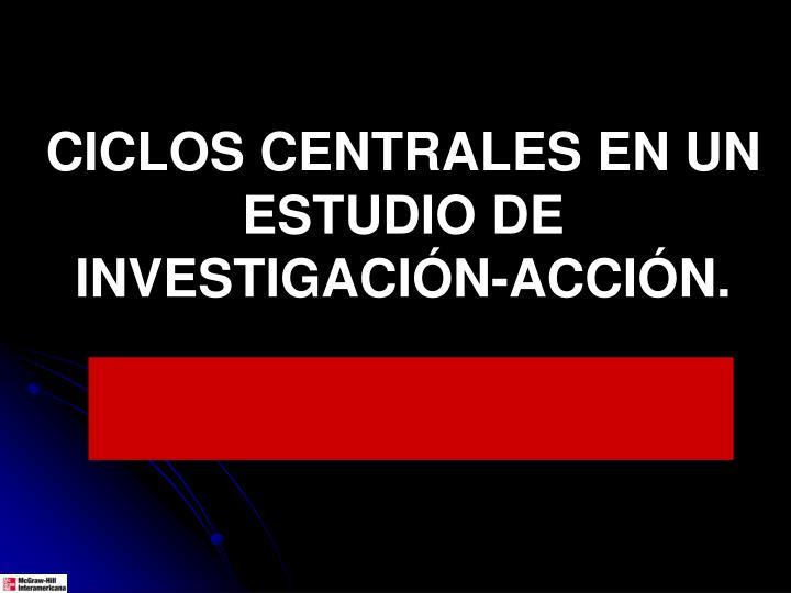 CICLOS CENTRALES EN UN ESTUDIO DE INVESTIGACIÓN-ACCIÓN.