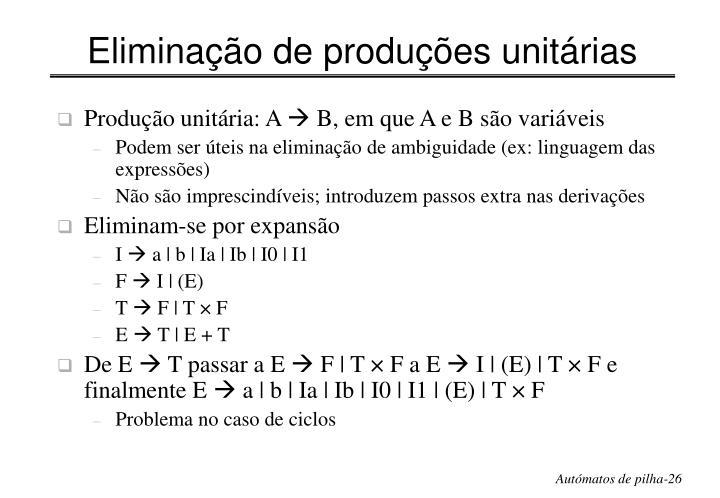 Eliminação de produções unitárias