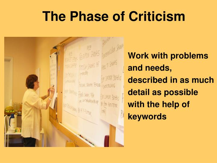 The Phase of Criticism