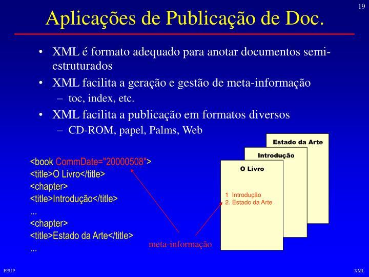 Aplicações de Publicação de Doc.
